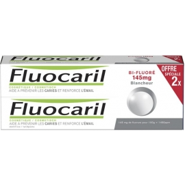 Fluocaril Dentifrice Bi-Fluoré 145 mg Blancheur 2 x 75 ml