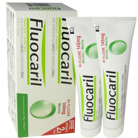 Fluocaril Dentifrice Bi-Fluoré 145 mg Menthe 2 x 75 ml