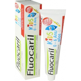 Fluocaril Dentifrice Kids 0-6 Ans Gel Fraise 50 ml
