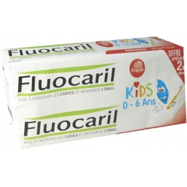 Fluocaril Dentifrice Kids 0-6 Ans Gel Fraise 2 x 50 ml