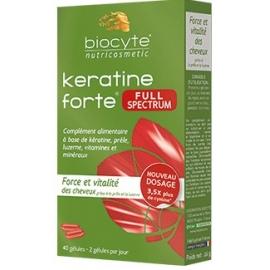 Biocyte Nutricosmetic Keratine Forte 1000mg 40 Gélules