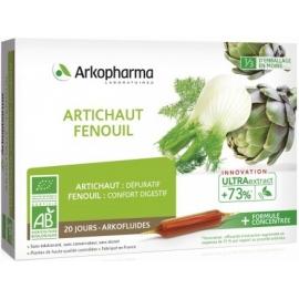 Arkophama Arkofluides Artichaut - Fenouil Bio 20 Ampoules