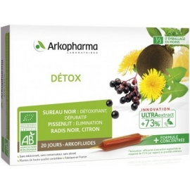 Arkopharma Arkofluides Détox Bio 20 Ampoules