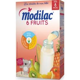 """Modilac """"Les Céréales De Mon Bébé"""" 6 Fruits 300 g"""