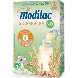 """Modilac """"Les Céréales De Mon Bébé"""" 5 Céréales Bio 230 g"""