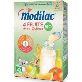 """Modilac """"Les Céréales De Mon Bébé"""" 4 Fruits Avec Quinoa Bio 230 g"""