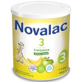 Novalac 3 Croissance Lait 1-3 ans Banane - Pomme 800 g
