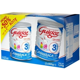 Guigoz 3 Lait Croissance 1 An à 3 Ans 2 x 800 g
