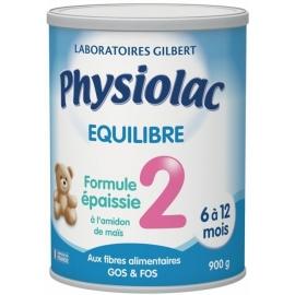 Physiolac Equilibre 2 Formule épaissie 6 à 12 Mois 900 g