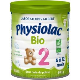 Physiolac 2 Bio 6 à 12 Mois 800 g