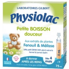 Physiolac Petite Boisson Douceur Fenouil & Mélisse 15 x 5 ml