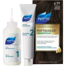 Phyto Phytocolor Sensitive Coloration Permanente 4.77 Châtain Marron Profond