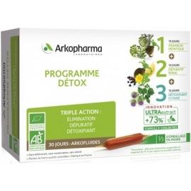 arkopharma Arkofluides Programme Détox Bio 30 Ampoules