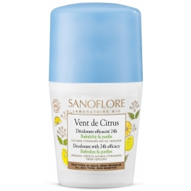 Sanoflore Vent De Citrus Déodorant roll-on 50 ml