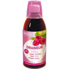 Milical Draineur Ultra Goût Framboise 500 ml