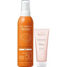 Avène Spf 50 Spray Solaire 200 ml + Body Gel Douche Offert