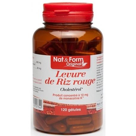 NAT&FORM LEVURE DE RIZ ROUGE 120 GELULES