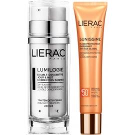 Lierac Lumilogie Coffret Doubles Concentré Correction Taches 30 ml + Sunissime Fluide Protecteur Visage SPF 50+ 40 ml Offert