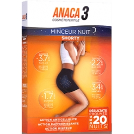 Anaca 3 Shorty Minceur Nuit S/M Black