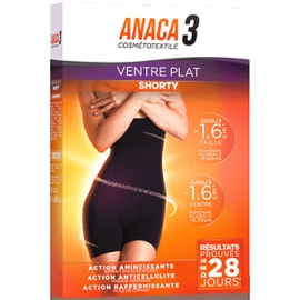 Anaca 3 Ventre Plat Shorty S/M Black