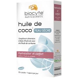 Biocyte Nutricosmetic Huile De Coco Peau Sèche 30 Capsules