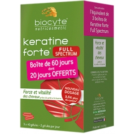 Biocyte Nutricosmetic Keratine Forte Full Spectrum 120 Gélules