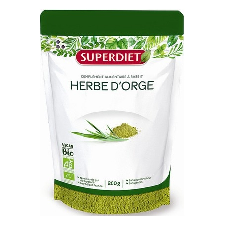 Super Diet Food Herbe D'Orge Bio 200 g
