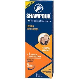 Shampoux Lotion Traitante Sans Rinçage Poux Et Lentes 100 ml