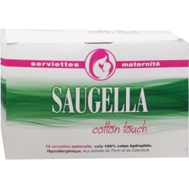 Saugella Cotton Touch Serviettes Maternité x 10