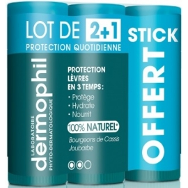 Dermophil Stick Lèvres Protection Quotidienne 3 x 4g
