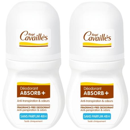 Rogé Cavailles Absorb + 48 h Sans Parfum Roll-on 2 x 50 ml