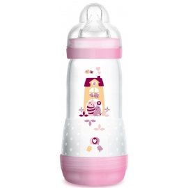MAM Biberon Easy Start 0+ Mois rose 320 ml