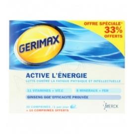 Gerimax Active l'énergie 30 comprimés + 10 offerts