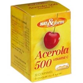 Nat&Form acérola 500 vitamine C 30 comprimés