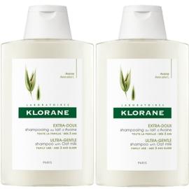 Klorane Capillaire Shampooing Extra Doux Au Lait D'avoine 2 x 400 ml
