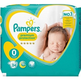 Pampers Premium Protection taille 0 1.5-2,5 kg x 24