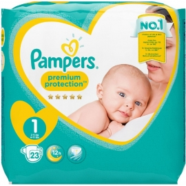 Pampers Premium protection Taille 1 2-5 kg x 22