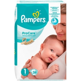Pampers ProCare Premium Protection Taille 1 2-5 kg x 38
