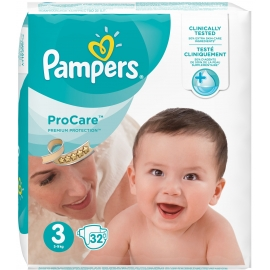 Pampers ProCare Premium Protection Taille 3 5-9 kg x 32