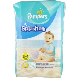 Pampers Splashers Couches-Culottes De Bain Jetables Taille 3-4 x 12