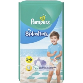 Pampers Splashers Couches-Culottes De Bain Jetables Taille 5-6 x 10