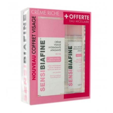 Coffret SensiBiafine crème riche 40 ml + eau micellaire 125 ml offerte