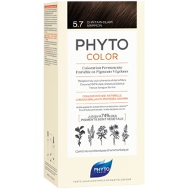 Phyto Phytocolor Coloration Permanente 5,7 Châtain Clair Marron