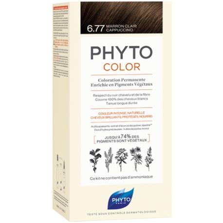 Phyto Phytocolor Coloration Permanente 6 77 Marron Clair Cappuccino