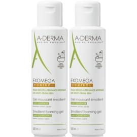 A-Derma Exomega Control Gel Moussant émollient 2 x 500 ml