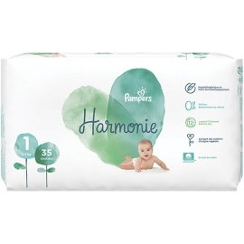 Pampers Harmonie Taille 1 2-5 kg 35 Couches