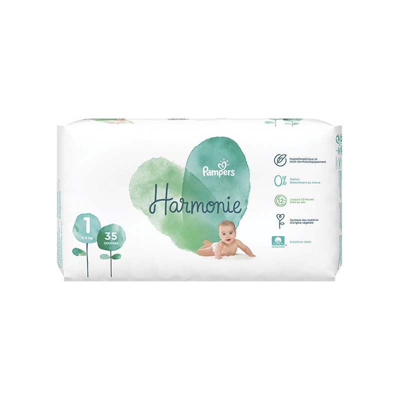 Pampers Harmonie Taille 1 2 5 Kg 35 Couches