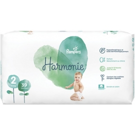 Pampers Harmonie Taille 2 4-8 kg 39 Couches
