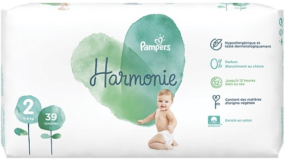 Pampers Harmonie Taille 2 4 8 Kg 39 Couches