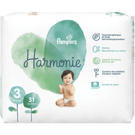 Pampers Harmonie Taille 3 6-10 kg 31 Couches